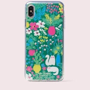 Kate Spade jeweled garden posy iPhone X case- NWT